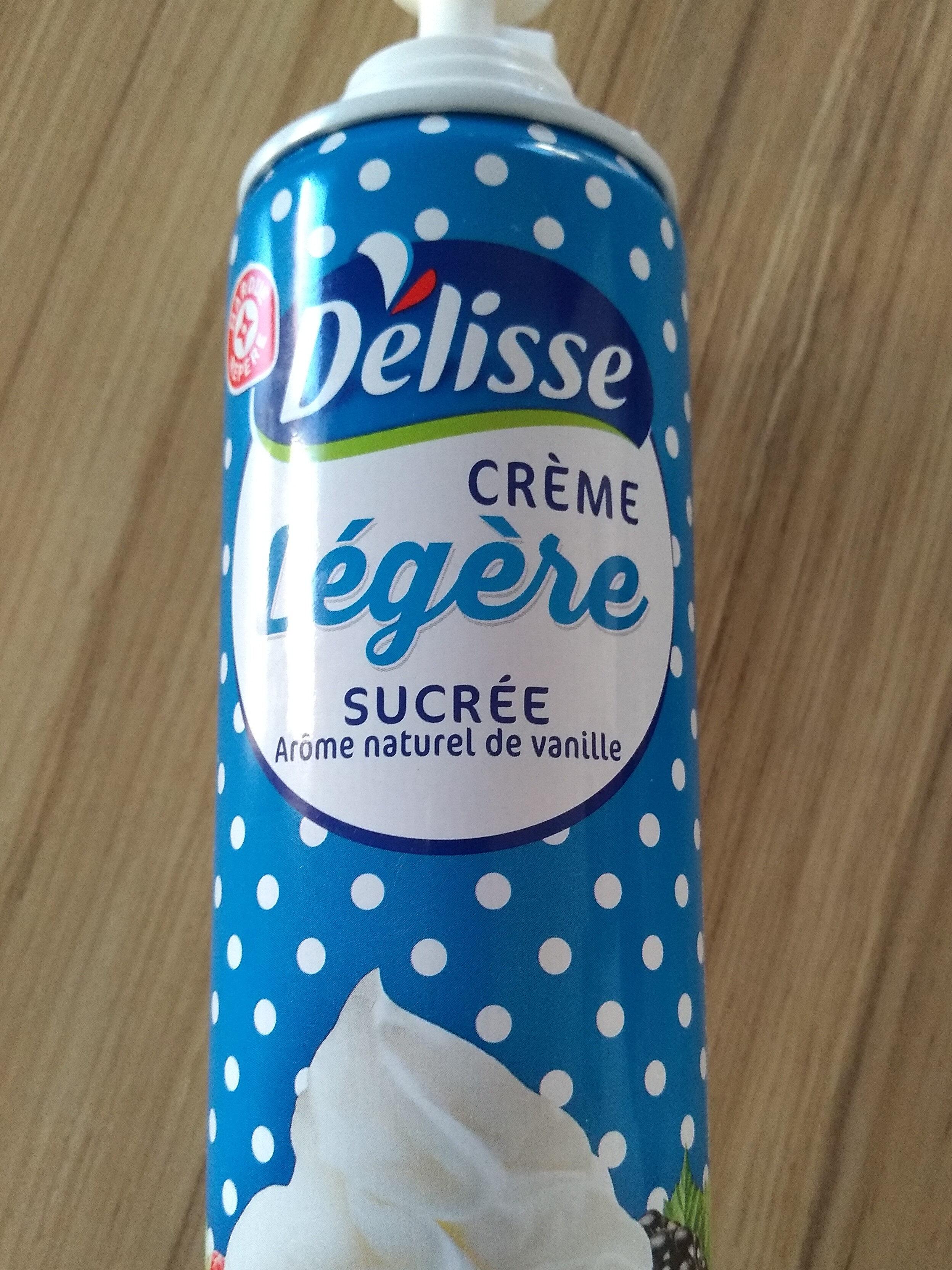 crème légère sucrée arôme naturel vanille - Product