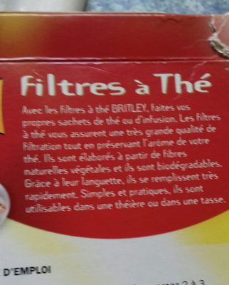 Filtres à thé x 30 - Ingredients - fr