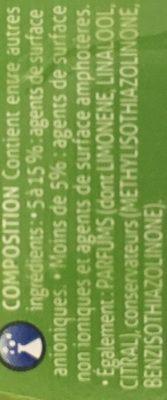 Visior Ultra Degraissant - Ingredients