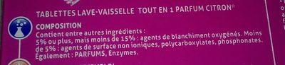 Visior - Tout En 1 / Geschirrspüler-tabs Mit Zitronen-duft - Ingredients