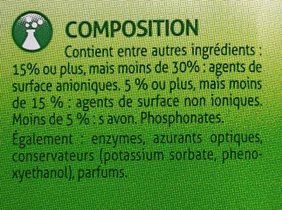Lessive liquide - Ingredients