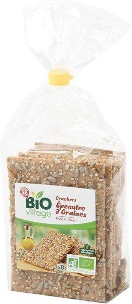 Crackers épeautre 3 graines bio - Produit - fr