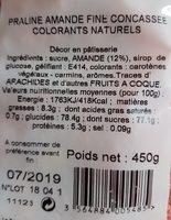 pralines roses concassées - Ingredients