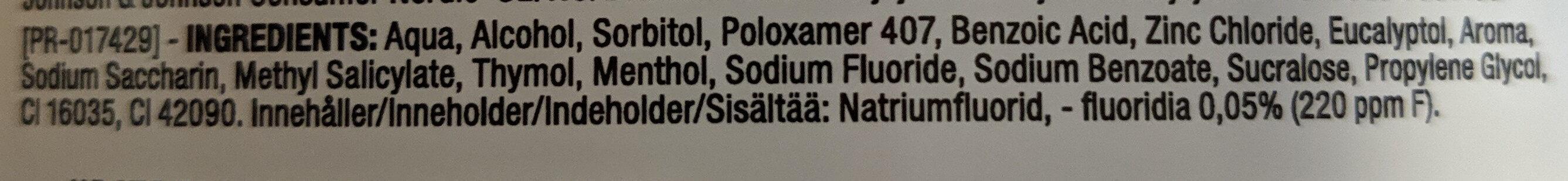 Listerine Total Care Clean Mint - Ingredients