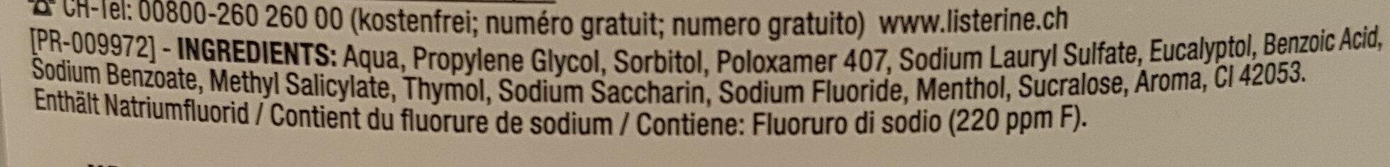 Mundspühlung - Ingredients - de