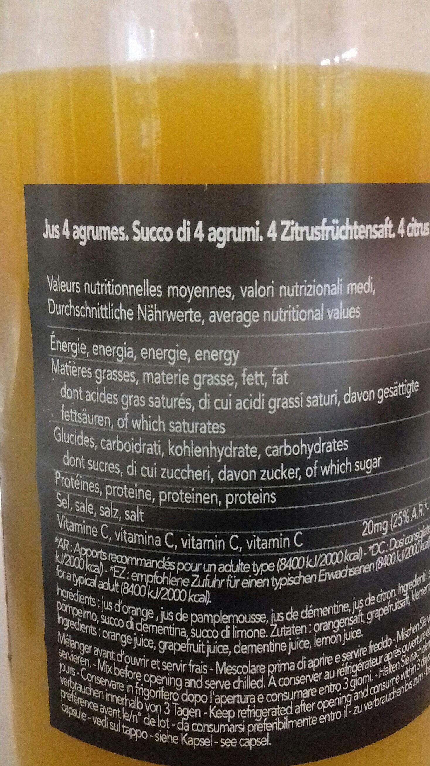 4 agrumes pur jus - Ingredients