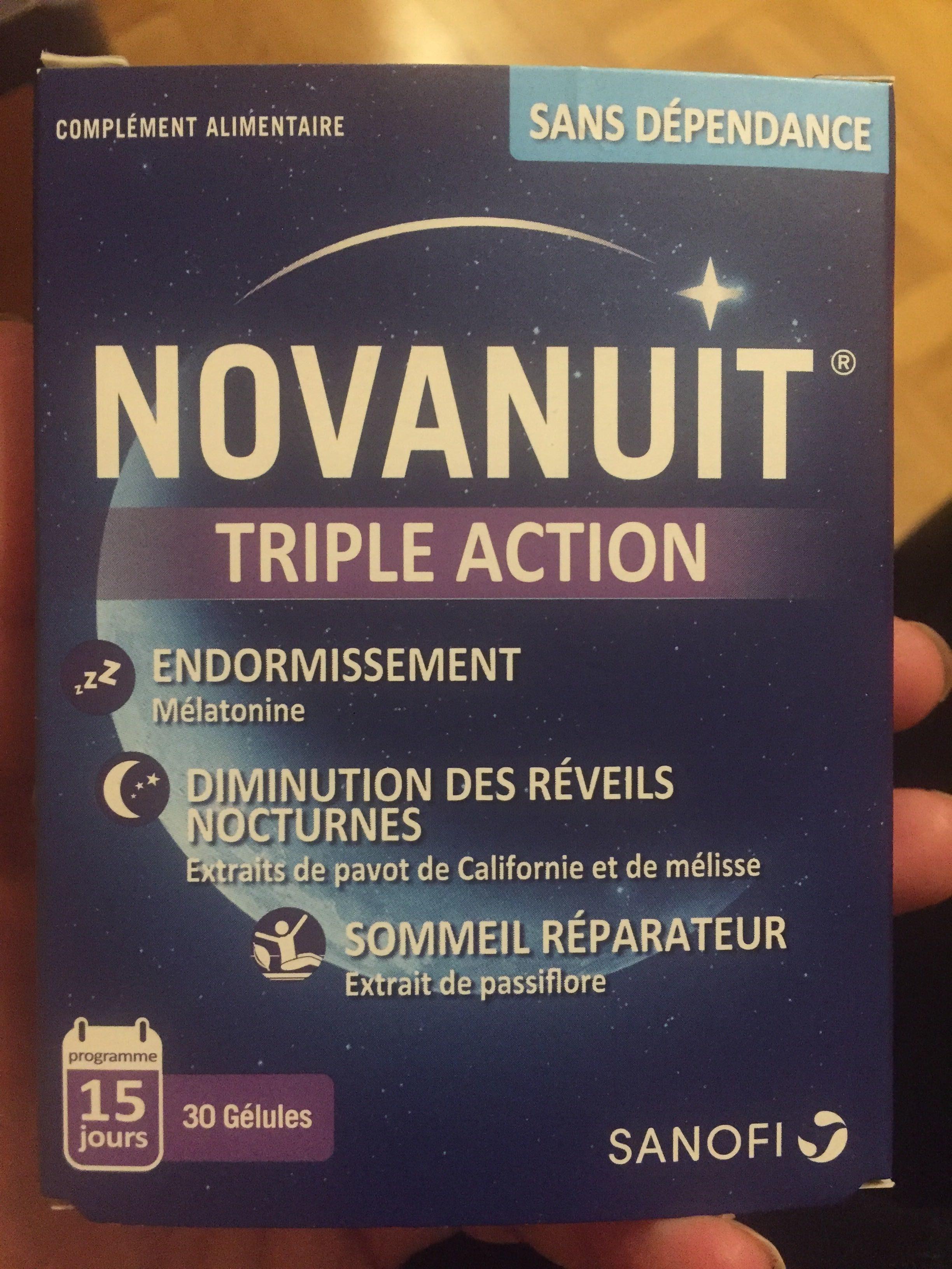 Sanofi Aventis Novanuit Triple Action 30 Gélules - Product