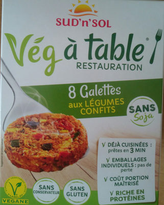 8 galettes aux legumes confits - Product