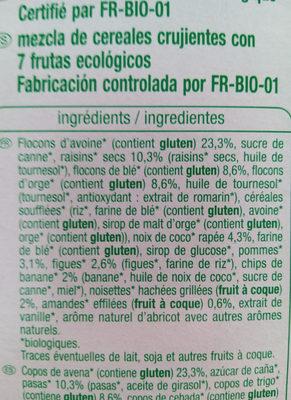 muesli 7 fruits - Ingredients