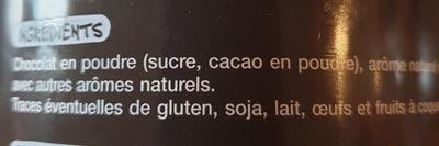 chocolat gourmand - Ingrédients