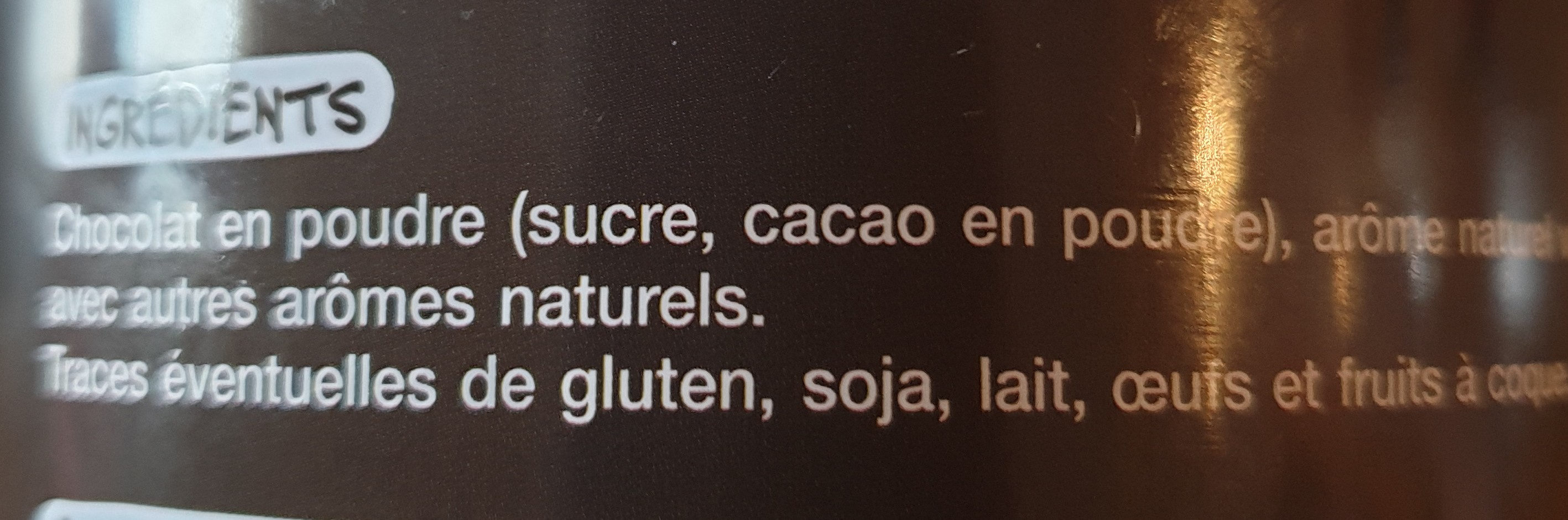 chocolat gourmand - Ingredients
