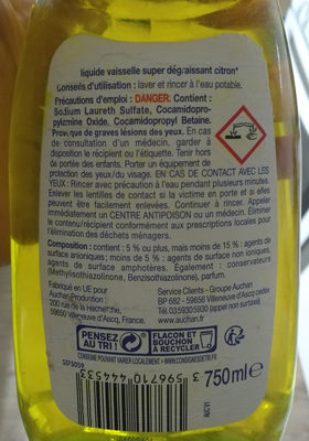 Tradi Citron super dégraissant - Ingredients