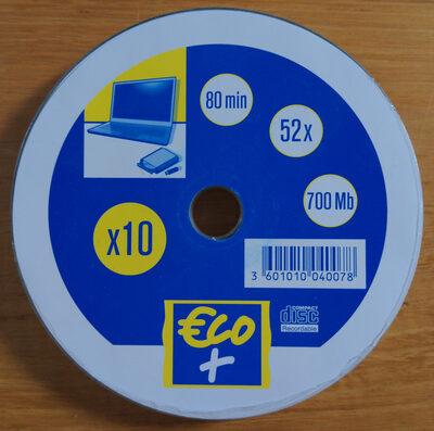 CD 80 min 52 x 700 Mb - Produit - fr