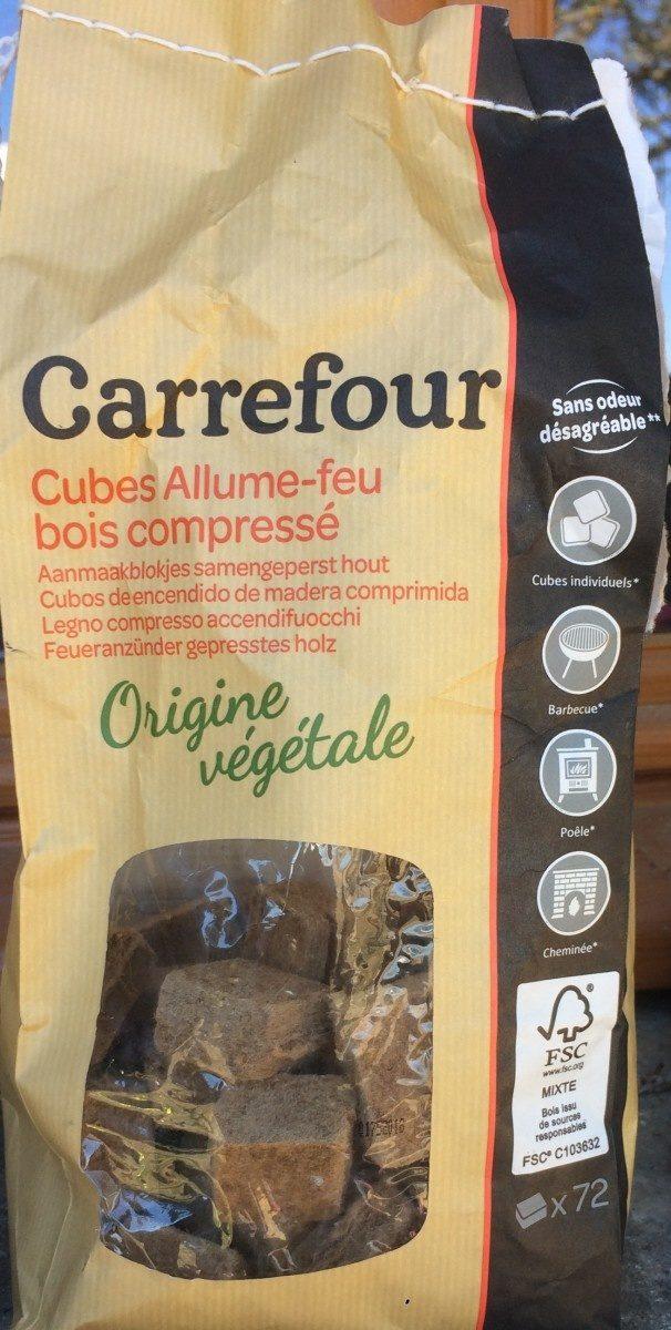 Allume Feu En Bois Compressé x72 - Product - fr