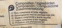 Allume Feu En Bois Compressé x72 - Ingredients