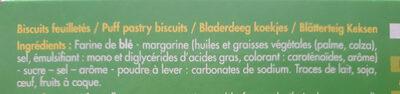 Palmiers feuilletés - Ingredients