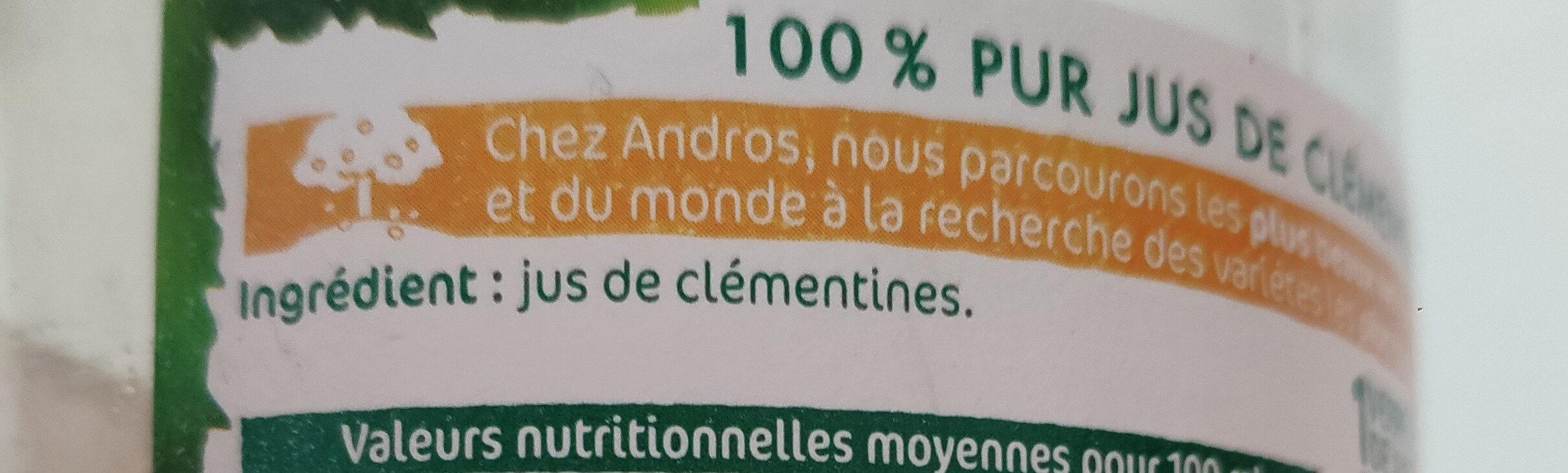 Clémentines pressées - Ingrédients - fr