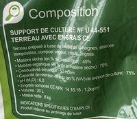 Terreau universel - Ingredients - fr