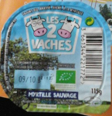 Les 2 vaches - Myrtilles sauvages - Produit