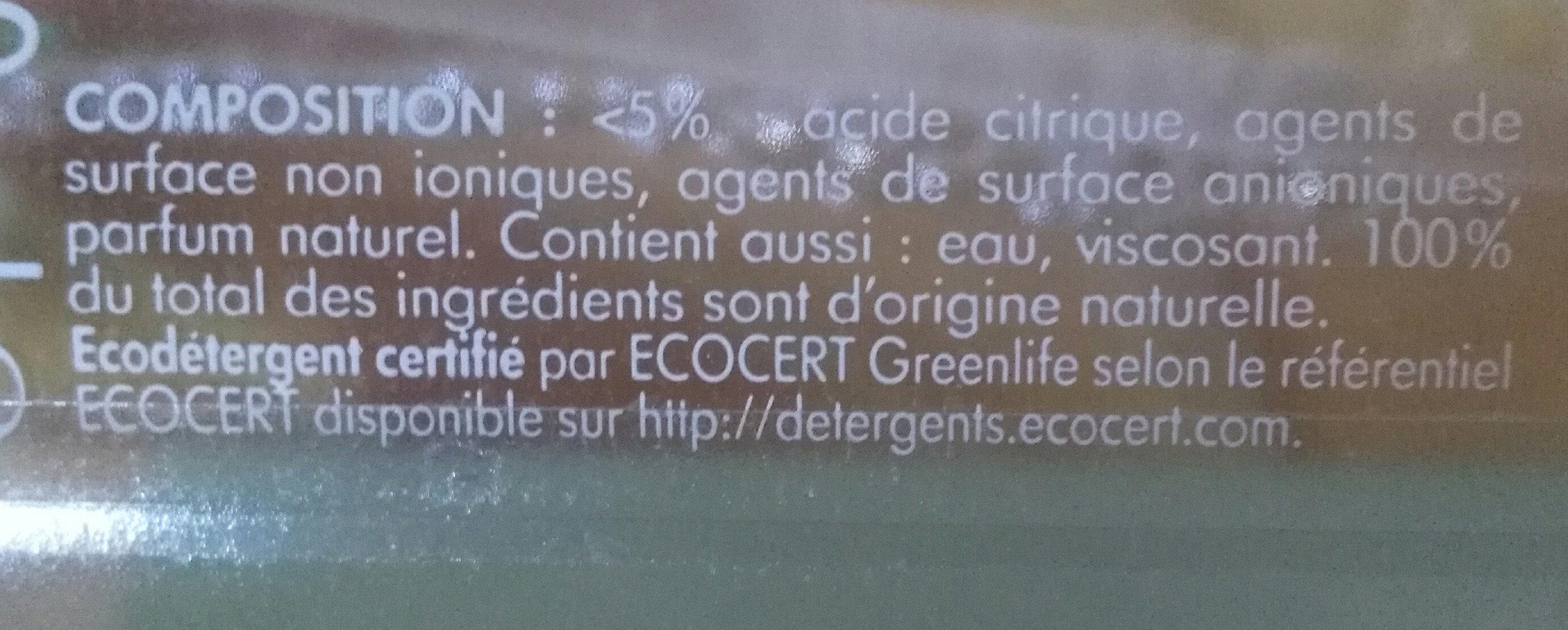 Nettoyant salle de bain anticalcaire - Ingrédients - fr