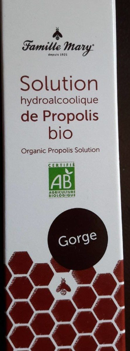 Solution hydro-alcoolique de propolis bio - Product