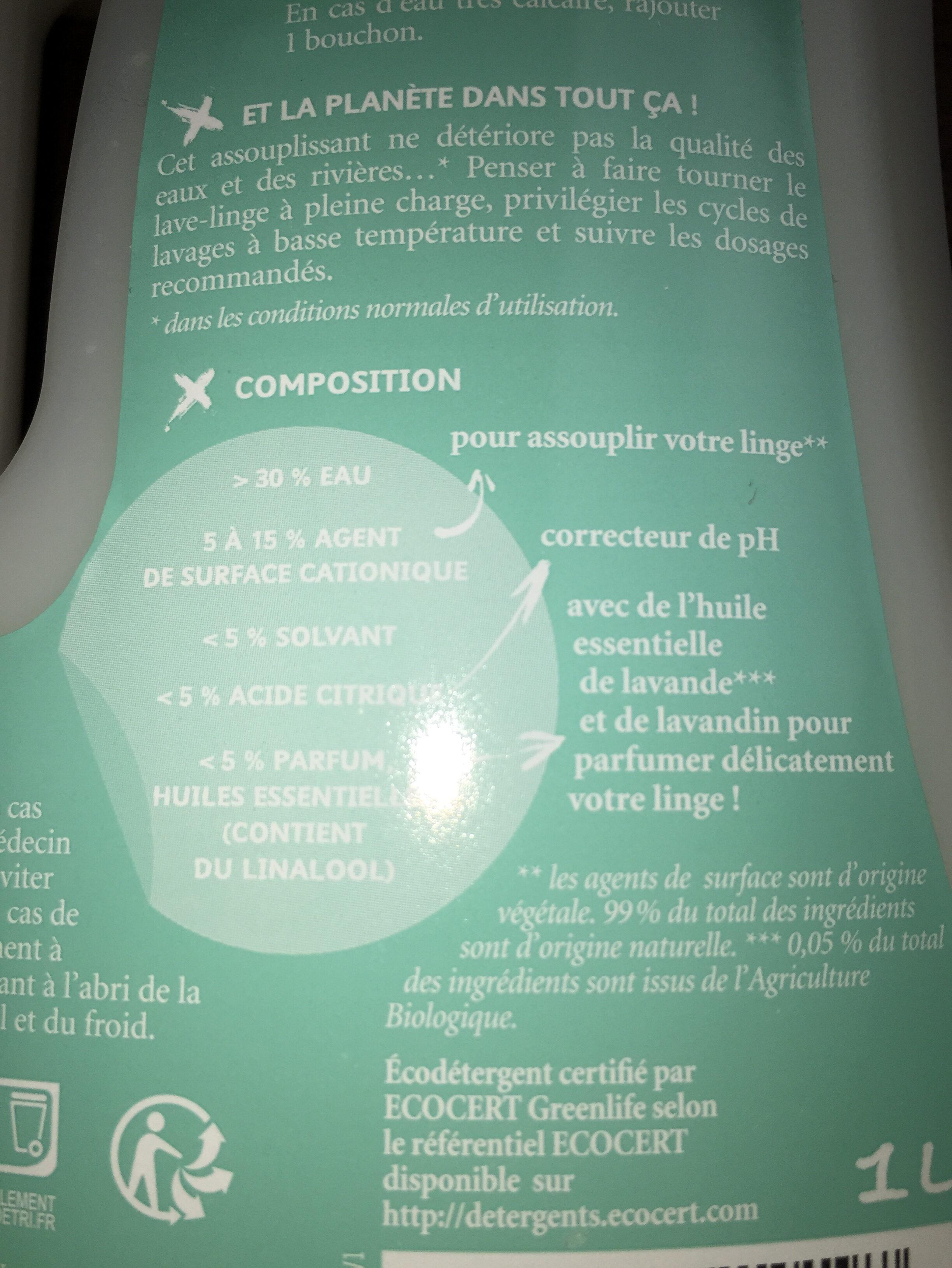 Assouplissant plissant écologique - Ingrédients - fr