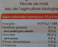 fecule de maïs - Ingrédients - fr