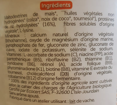 Premiriz 3e âge - Ingredients