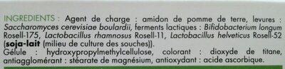 Granions Probiovit' Flore - Ingredients