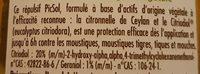Anti moustique citronnelle - Ingredients