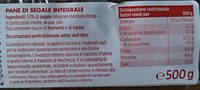 pane di segale integrale - Ingredients