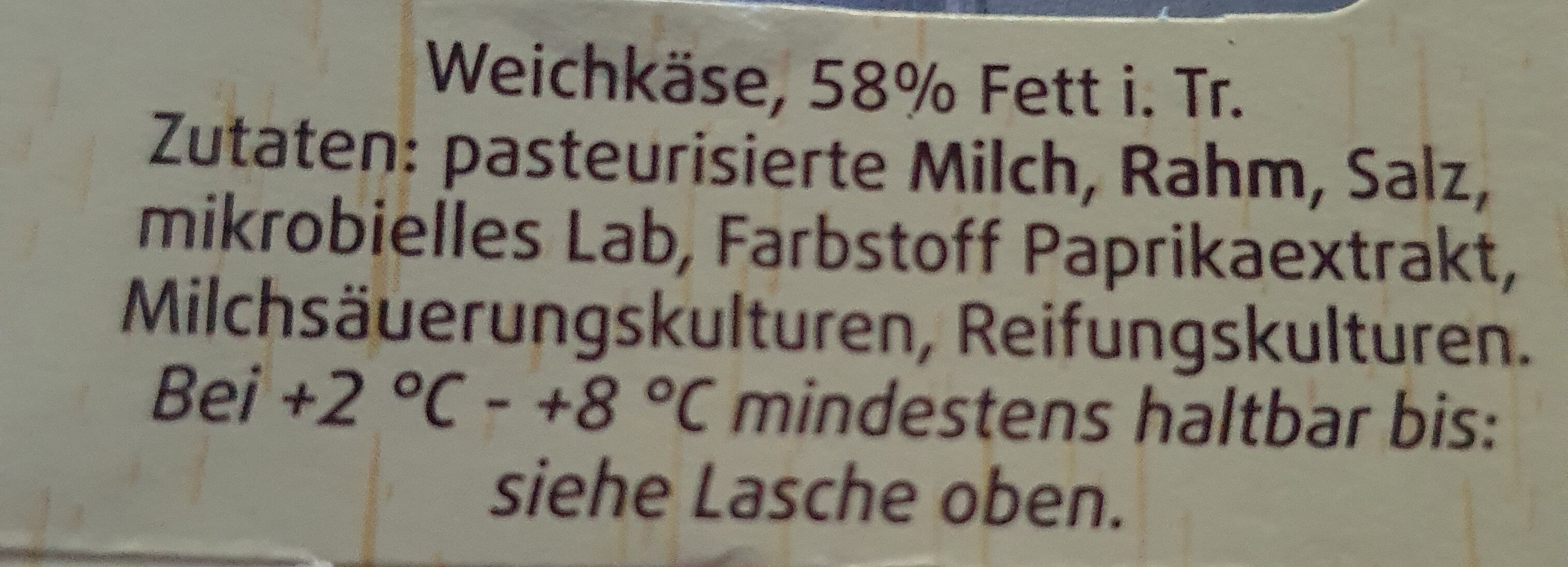 Rougette Ofenkäse - Ingredients - de