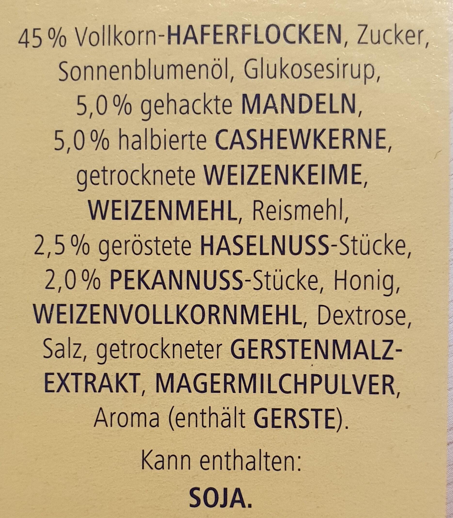 Vitalis knusper Müsli Plus - Ingredients - de