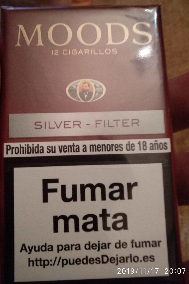 Moods Silver Filter cigarillosx12 - Product - fr