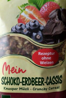 Schoko Erdbeer Cassis Knusper Muesli - Product