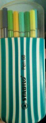 Etui 20 Feutres Pen 68 - Zébrui Turquoise - Product
