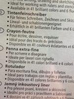 Stabilo Feutre à Pointe Fine Point 88, étui Plastique De 8 - Ingredients - fr