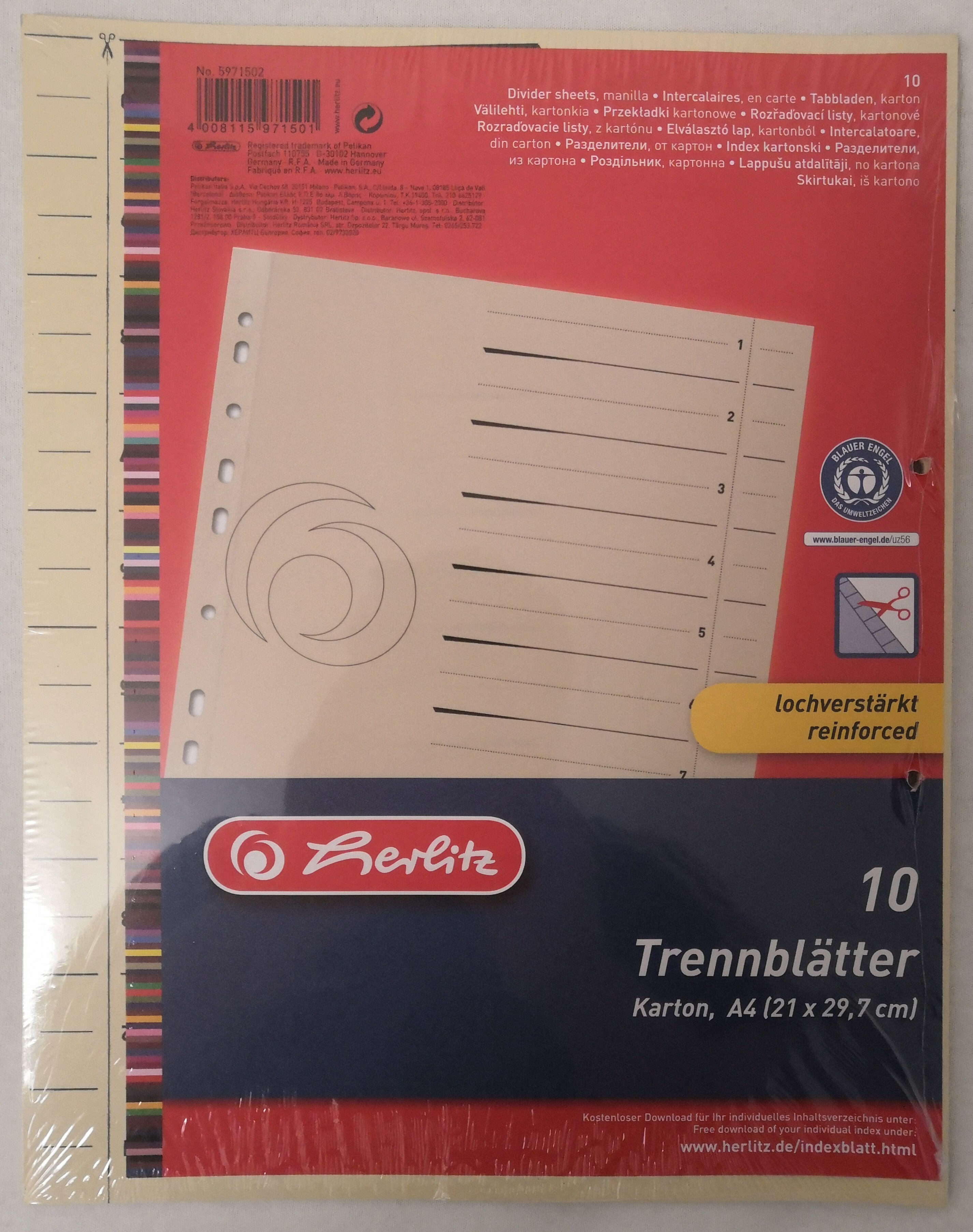 Herlitz Trennblätter, Karton - Product - de