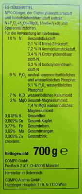 Compo Bambus Langzeit-Dünger - Ingredients - de