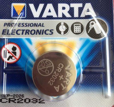 Varta Pile Bouton Lithium 'Professional Electronics',CR2032 - Product