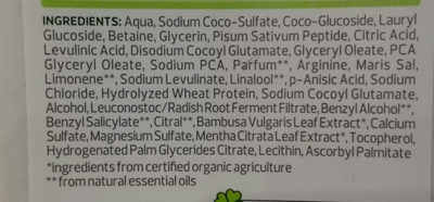 Volumen-Shampoo - Ingredients