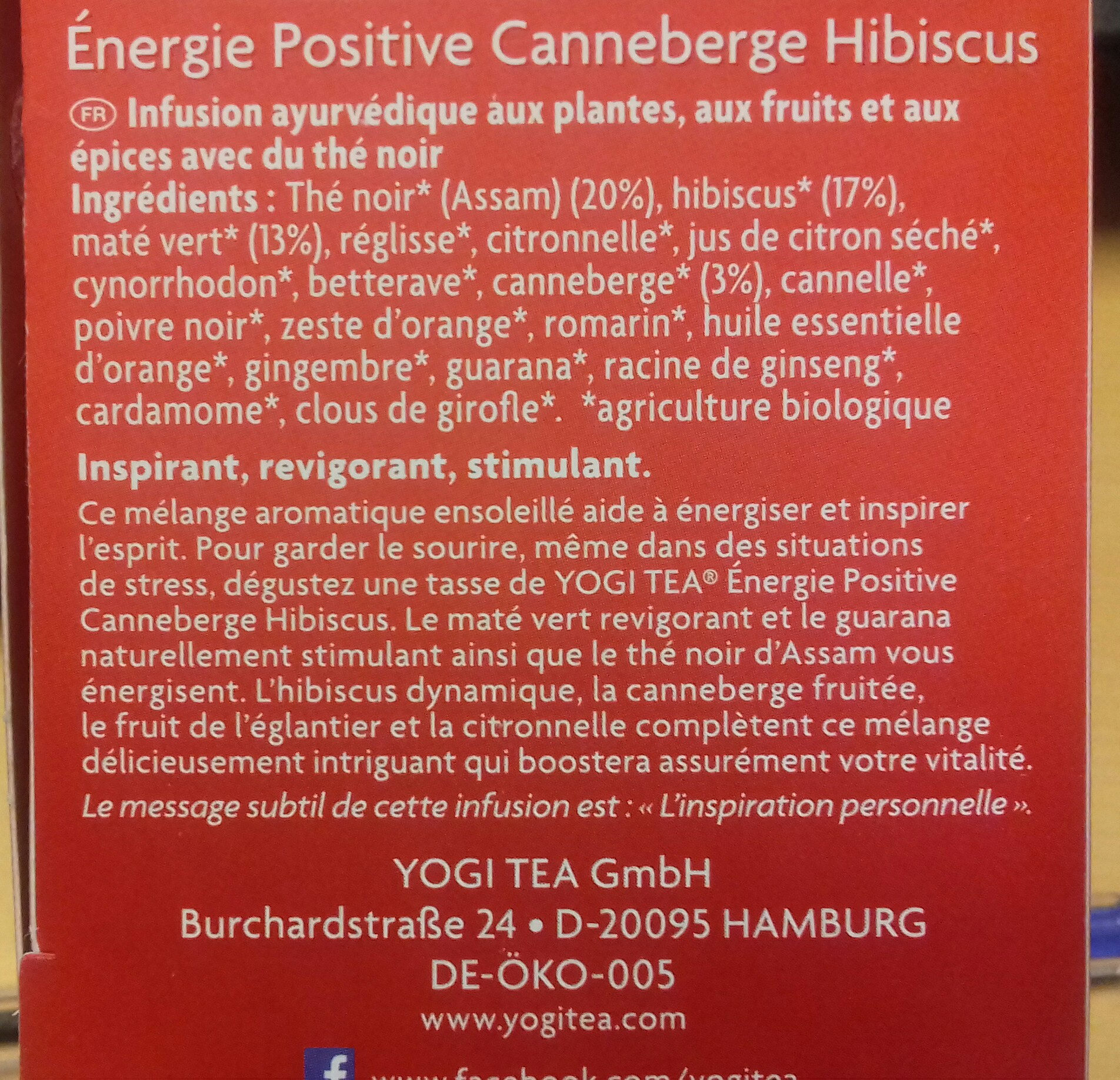 cranberry hibiscus - Ingredients - fr