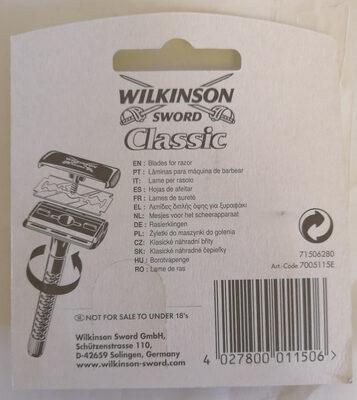 Wilkinson Sword Classic Rasierklingen - Ingredients - de