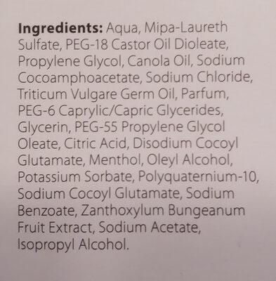 Forte Shampoo - Ingredients