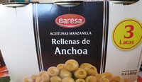 ACEITUNAS MANZANILLA RELLENAS DE ANCHOA - Product - es