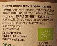 Spekulatiuscreme - Ingredients - de
