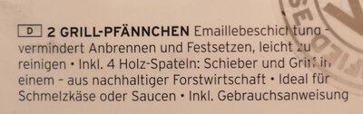 Grill-Pfännchen - Ingredients - de