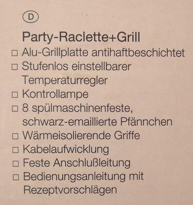 Petra Electric PartyRaclette + Grill - Ingredients - de