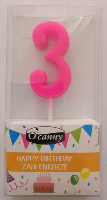 Happy Birthday Zahlenkerze - Product - de