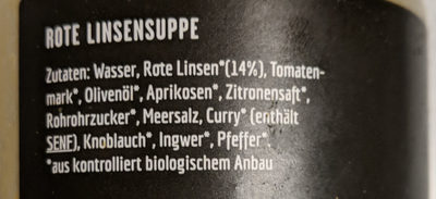 Rote Linsen Suppe - Ingredients - de